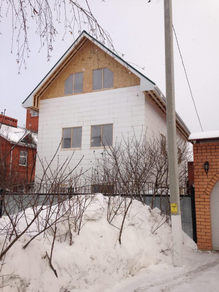 Крыша дома с несъемной опалубкой