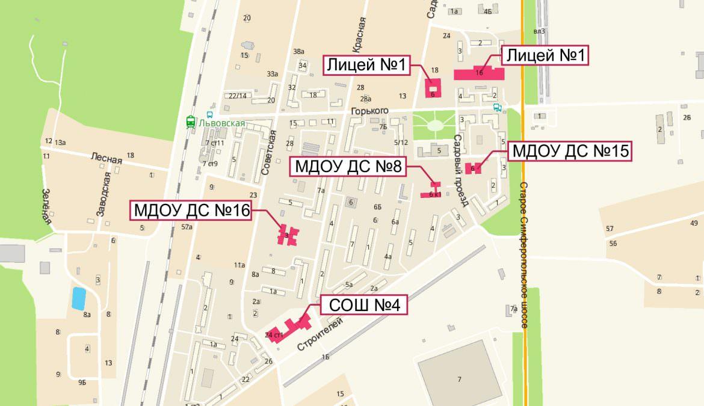 Карта Подольска