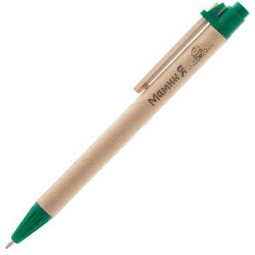 Деревянная ручка с логотипом