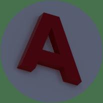 Объемные буквы без подсветки ночью