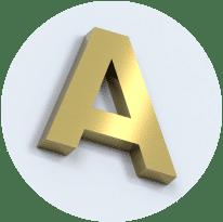 Объемные буквы из нержавеющей стали