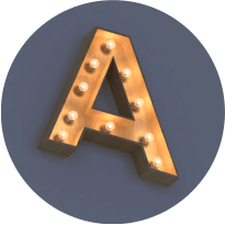 Деревянные буквы в стиле ретро с открытыми лампами