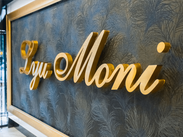aluminum pin mounted letters