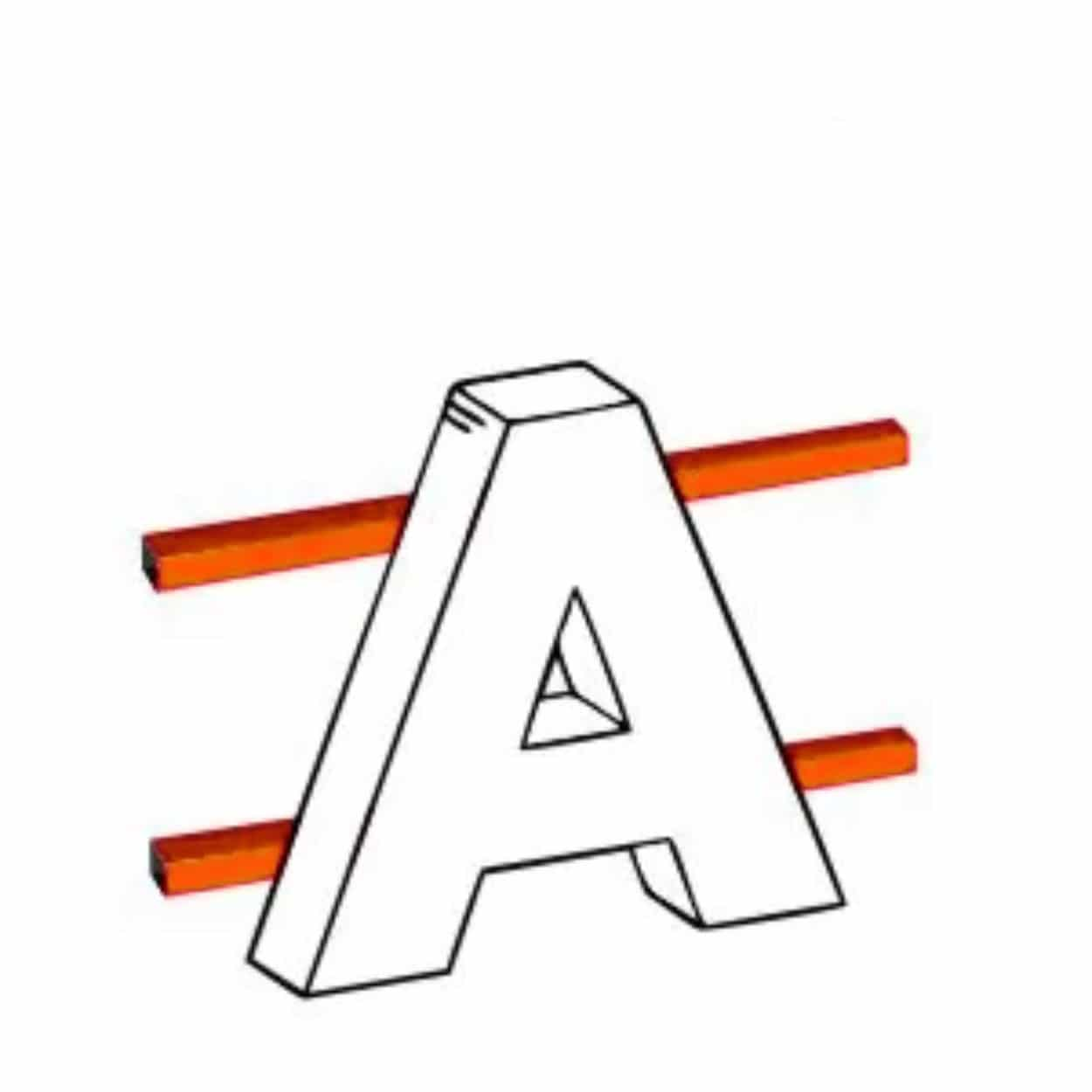 Объемные буквы на каркасе