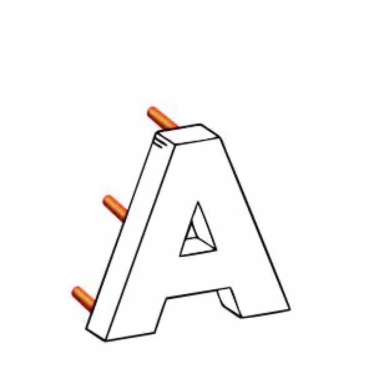 Объемные буквы на проставках