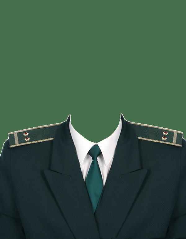 замена одежды на форму лейтенанта таможенной службы