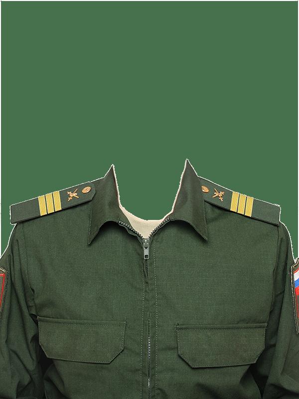 замена одежды на военную форму сержанта