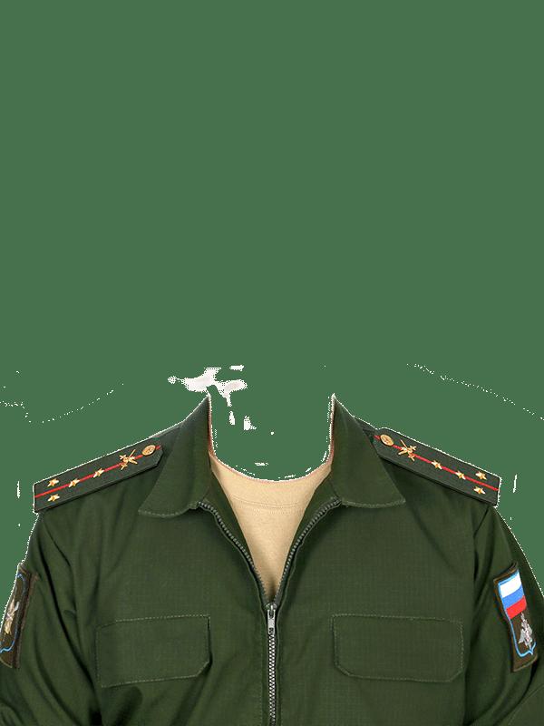 замена одежды на военную форму капитана