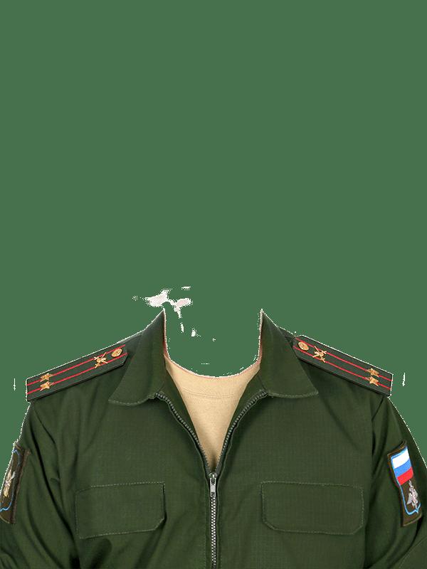замена одежды на военную форму подполковника