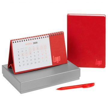 Ручка в наборе с календарем с логотипом