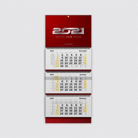 Дизайн квартального календаря трио