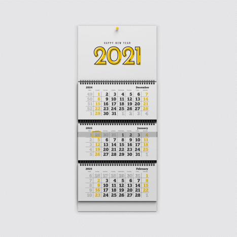 Макет квартального календаря трио
