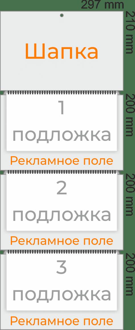 Размер календаря трио Стандарт