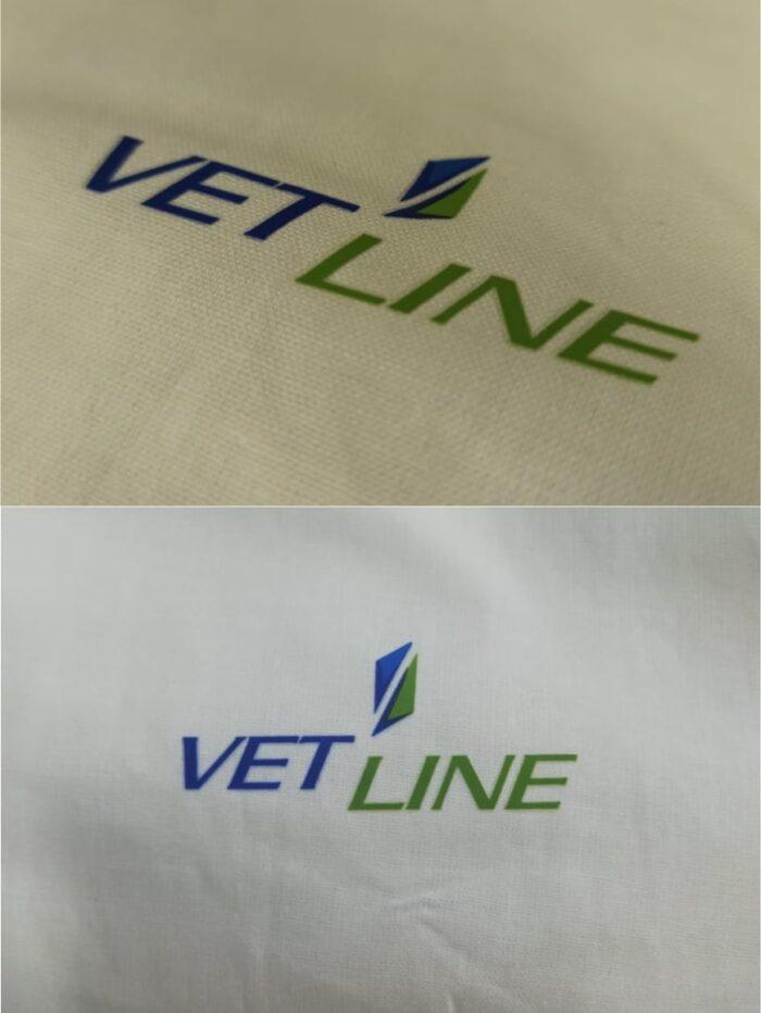 Нанесение логотипа на халат VetLine