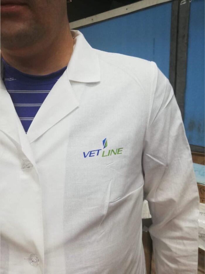 Печать логотипа на халате